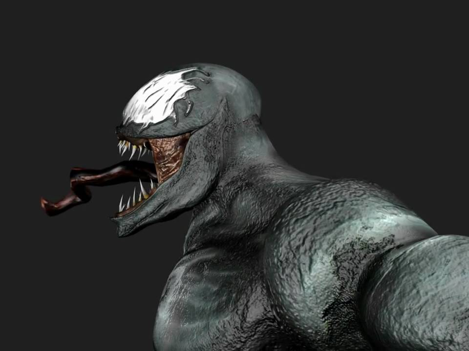 Marvel Venom 3d Model Spider Man Nemesis Villain Hd