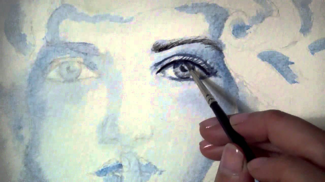 Como pintar un rostro con acuarelas pintura con - Aprender a pintar ...