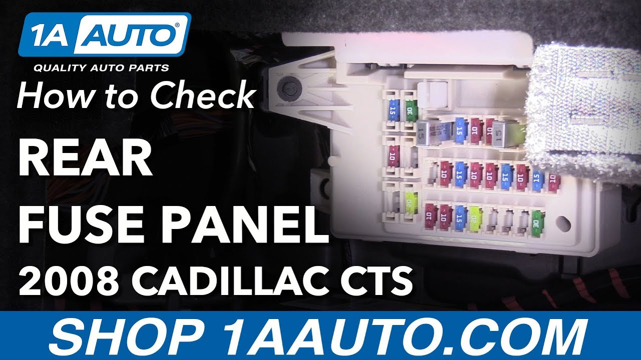 how to replace rear fuses 08-14 cadillac cts