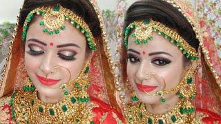 Olivia Panstick से कम से कम Budget मे  कैसे करे Bridal Makeup ||Pancake make. step by step ( Hindi )