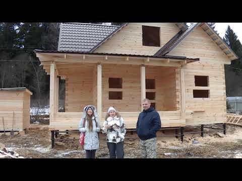 Дом из бруса построен в январе 2020 года