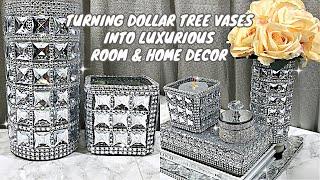 TURNING DOLLAR TREE VASES INTO LUXURY ROOM HOME DECOR DIY ROOM DECOR DIY HOME DECORATING IDEAS DIY