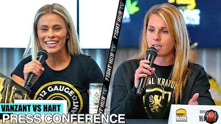 PAIGE VANZANT VS BRITAIN HART - FULL FINAL PRESS CONFERENCE & FACEOFF VIDEO | KNUCKLEMANIA
