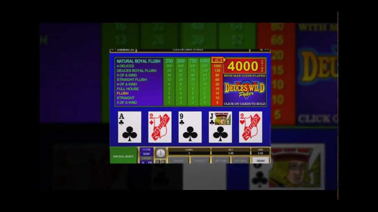 how to win playing deuces wild video poker
