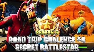 SECRET BATTLE STAR LOCATION! Week 4 Road Trip Challenges (Fortnite Season 5)