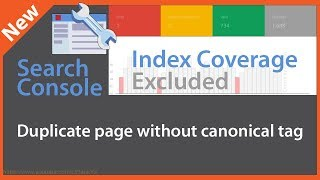 Duplicate page without canonical tag - Google Search Console Index Coverage