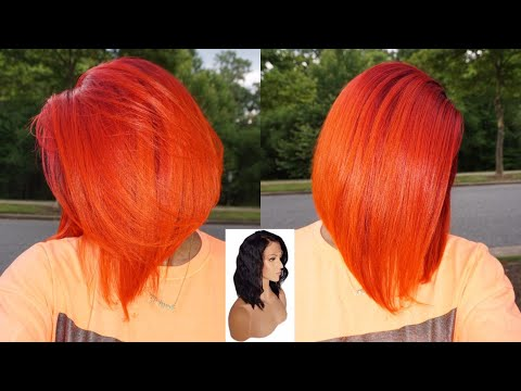 🔥FROM BLACK TO NEON RED ORANGE OMBRE! EASY ORANGE SUNSET HAIR COLOR│HOW TO Ft YWIGS