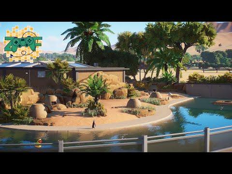 African Penguin Indoor & Outdoor Habitat | Planet Zoo Speed Build | Limpopo EP9