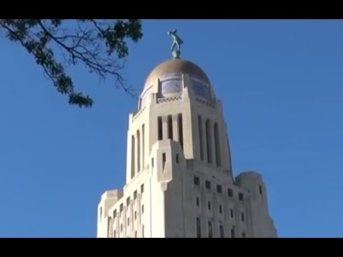 Nebraska State Capital Building in 4K Ultra HD - Lincoln Nebraska