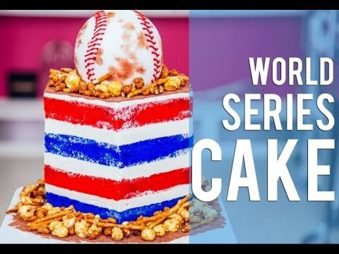 How To Make A BASEBALL WORLD SERIES CAKE Filled with Beer nuts