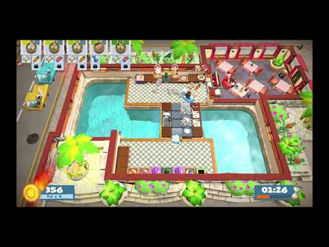 Overcooked 2 - Surf 'n' Turf - Level Kevin 1 - Single Player - 800 |
