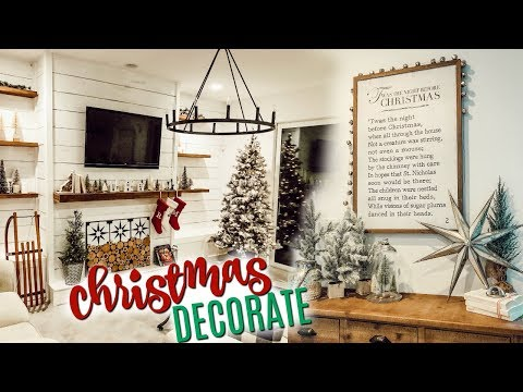 CHRISTMAS DECORATE WITH ME 2019 🎄Farmhouse Decorating Ideas for Christmas