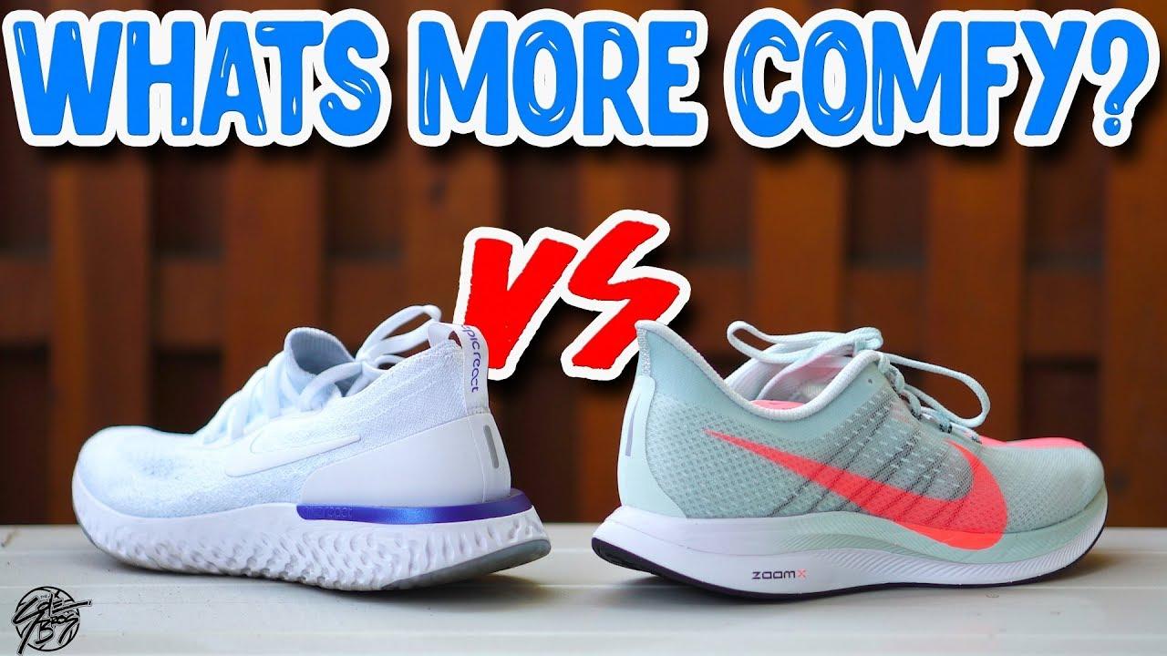 Nike Epic React vs Zoom Pegasus Turbo