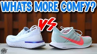 Nike Epic React vs Zoom Pegasus Turbo! What's More Comfortable?