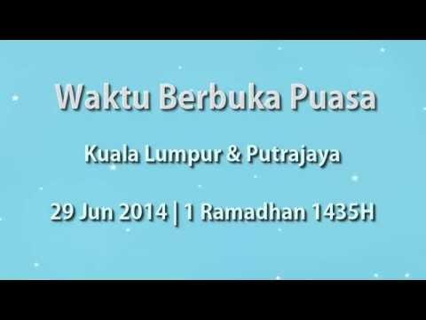 Waktu Berbuka Puasa Kuala Lumpur & Putrajaya (29 Jun 2014)