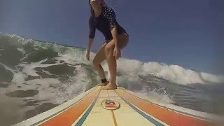 GoPro video of learning to surf at School of the World Jaco, Costa Rica