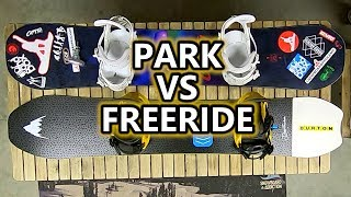 Snowboard - Park VS Freeride - Setting Up Your Snowboard