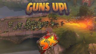 Guns Up! - How to score a 5X killstreak, easiest way, no hero units