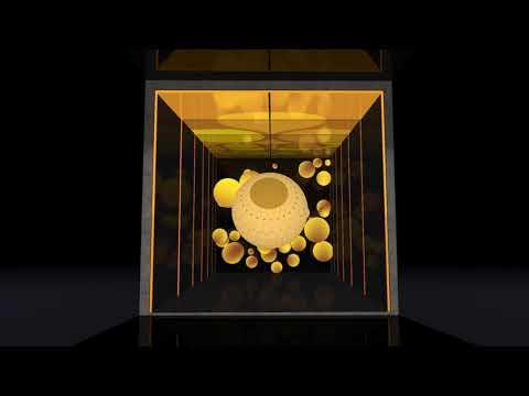 Interactive LED sphere and wall animation at the 2021 Arab Travel Market in Dubai.  Expo2020 Dubai.