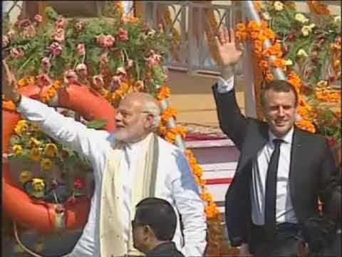 Macron takes boat ride with India's Modi in Ganges river