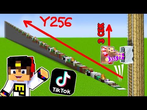 Майнкрафт но САМАЯ Долгая Лестница и Самая БЫСТРАЯ ! Девушка НУБ И ПРО Видео Троллинг Minecraft