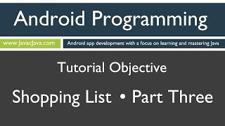 Learn Android Programming - Android Shopping List Part 3 Tutorial (Finale)