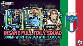 OMG BEST POSSIBLE ITALY SQUAD BUILDER TEAM UPGRADE FULL ITALIAN SQUAD FIFA MOBILE 20