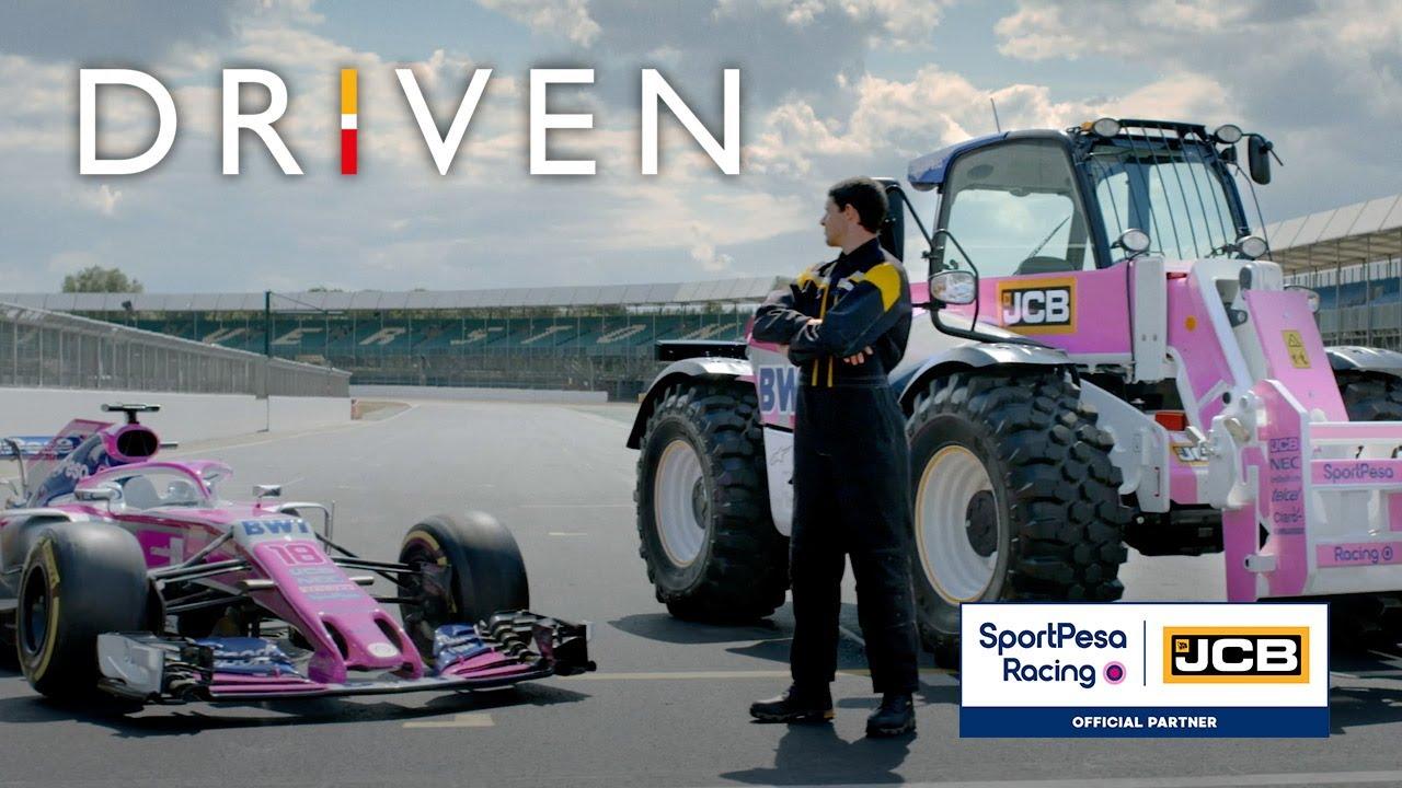 JCB Loadall Telehandler meets SportPesa Racing Point F1 Car