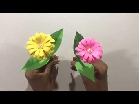 DIY: How To Make Beautiful Paper Flowers Easy Crafts- Work DIY