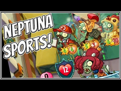 Neptuna's Triassic Sports Club - Plants vs Zombies Heroes Gameplay