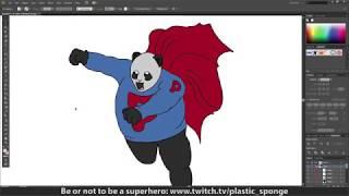 Super Panda - Illustrator - Quick Image Trace
