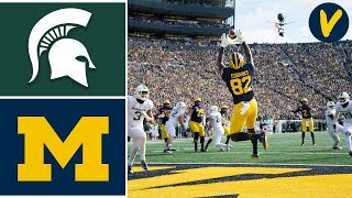 Michigan State vs #15 Michigan Highlights | Week 12 | College Football | 2019