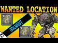 Wanted Golmuut Location | Spider Bounties | Destiny 2 Forsaken | Cargo Bay 3 Lost Sector