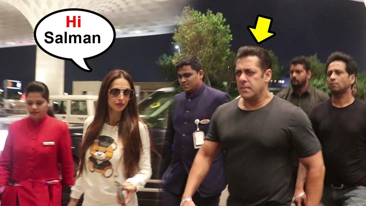 Salman Khan IGNORES Malaika Arora At Airport After How She ...