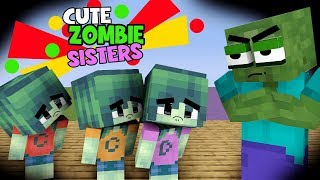 MONSTER SCHOOL : ZOMBIE STUBBORN SISTERS MAKE TROUBLE IN MONSTER SCHOOL - FUNNY MINECRAFT ANIMATION