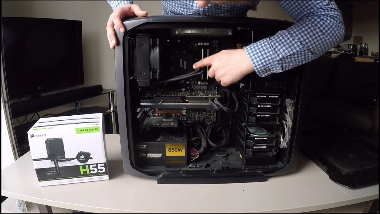 How To Install Corsair H55 Hydro Series Water Cooling System   #505D7B