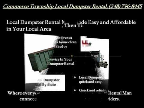 Commerce Township Local Dumpster Rental 248-796-8445