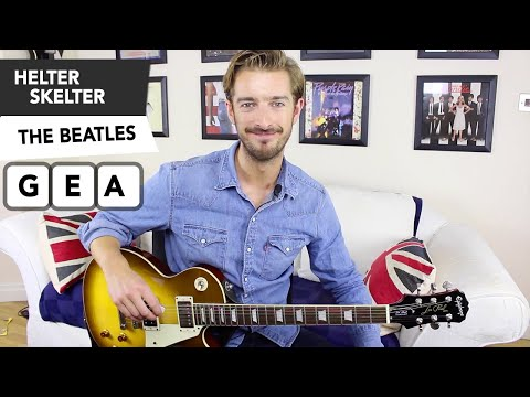 Helter Skelter Guitar Lesson Tutorial - The Beatles - Easy Songs