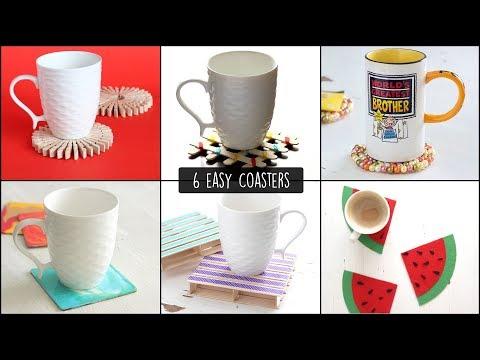 DIY Easy Coasters   How to make Coasters