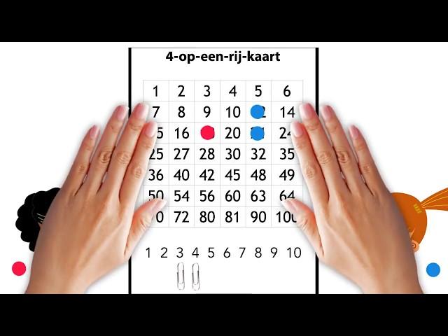 Tafels oefenen met 4-op-een-rij (+ PDF)