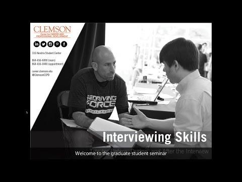 Graduate Student Seminar - Interviews