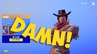 NEW CALAMITY MALE SKIN! DEAD FIRE SKIN in Fortnite Battle Royale!