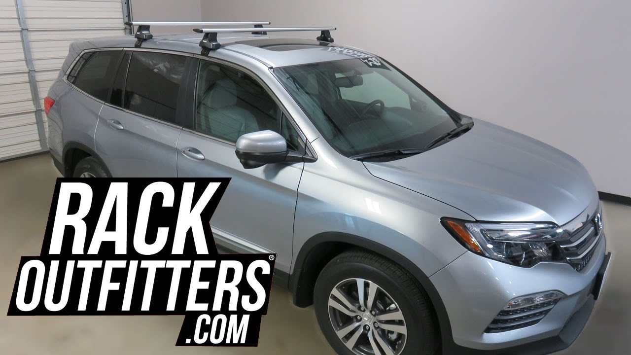 2017 Honda Pilot With Thule Rapid Traverse Aeroblade Roof Rack Crossbars