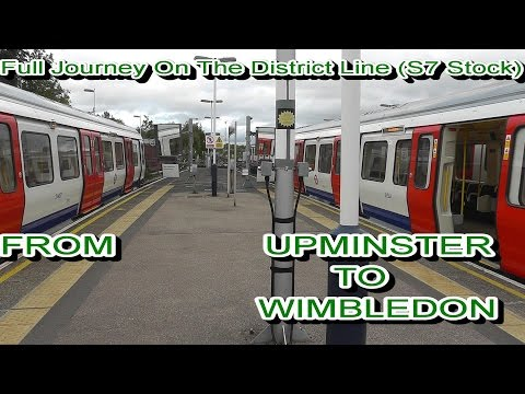 Full Journey On The District Line S7 Stock From Upminster to Wimbledon