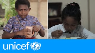 Two Indonesian 9-year-olds lead very different lives | UNICEF