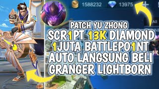 UPDATE SCRIPT 13K DIAMOND BATTLE POINT TERBARU MOBILE LEGENDS INDONESIA YU ZHONG BLACK DRAGON JUNI