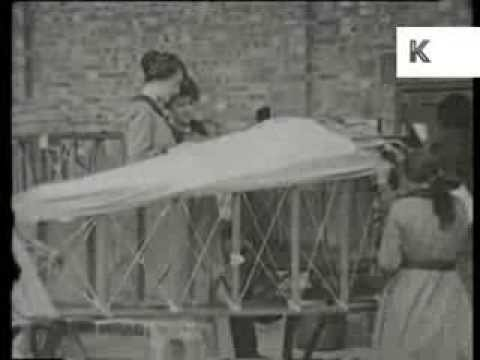 1910s Women Aircraft Factory Workers, Early Aviation, Rare Archive Footage