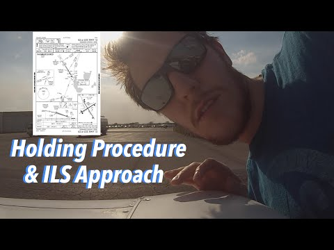 Hold Entry And ILS Approach| Right Seat Flying