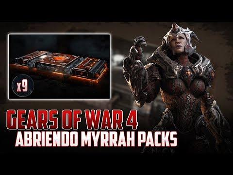 Gears of War 4   Abriendo 9 Myrrah Packs - La Suerte Increible!!