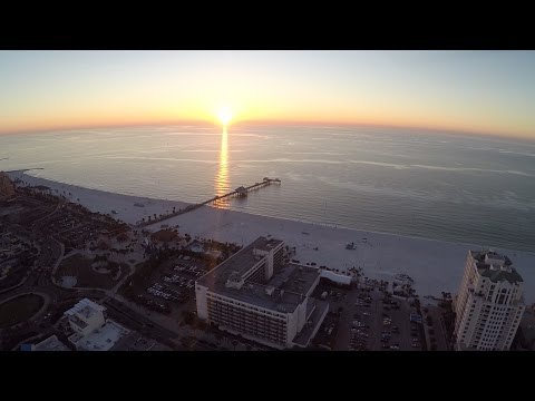 Clearwater Beach Aerial Video